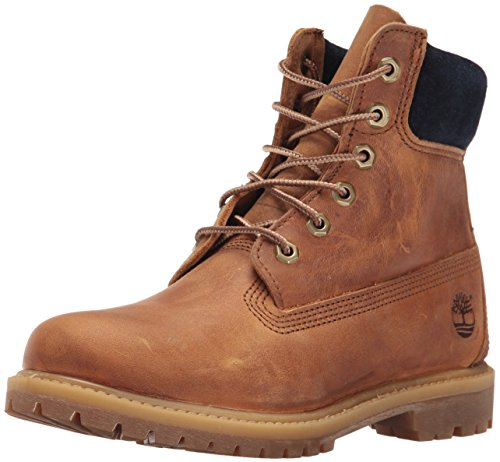 Timberland Women's 6 Inch Premium Boot, Tan Distressed Nubuck, 9 M US