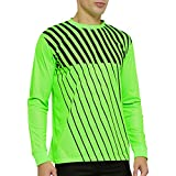 TOPTIE Long Sleeve Soccer Goalkeeper Jersey with Sponge Protector for Adult Youth, Arm Padded Goalie Shirt-Size Adult Large Green