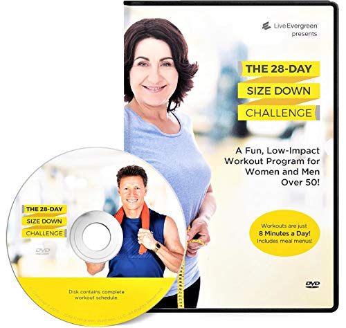 The 28 Day Size Down Challenge Workout DVD for Beginners and Seniors - Full Body, Low Impact Exercise and Fitness Program