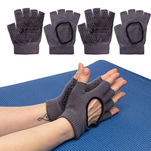 Zenzation 3 Pairs Yoga Gloves for Women Non Slip Grip for Pilates Fitness Fingerless Breathable