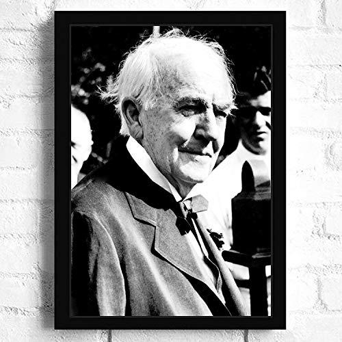 SDFSD Amerikanischer berühmter Erfinderwissenschaftler Thomas Alva Edison Porträt HD Bild Poster Schlafzimmer Home Decor Wandkunst Leinwand Gemälde 30 * 40cm