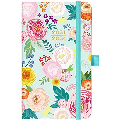 2021-2024 Pocket Planner/Calendar - Monthly Pocket Planner/Calendar with Pen Hold, Inner Pocket and 63 Notes Pages, 6.6' x 3.7'