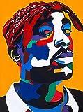Vakseen Art - Chang3d Man - 2 Pac Portrait Art - Limited Edition Tupac Stickers for Wall Decor, Laptops, Skateboards, etc.