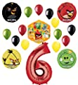 Angry Birds 2 Party Supplies 6th Birthday Balloon Bouquet Decorations