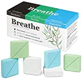 InYourNature BREATHE Shower Steamers Eucalyptus, Peppermint & Menthol and Tea Tree, 6 x Shower Tablets Aromatherapy with Organic Essential Oils for Sinus Relief, Shower Bombs for Women and Men as Gift
