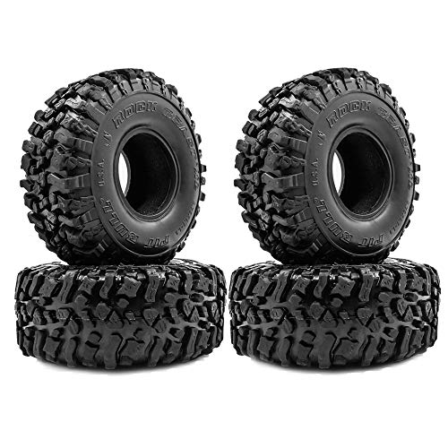 Cobeky 4PCS 120MM 1.9 Rubber Rocks Reifen Radreifen für 1/10 RC Crawler Axial SCX10 90046 AXI03007 TRX4 D90 MST