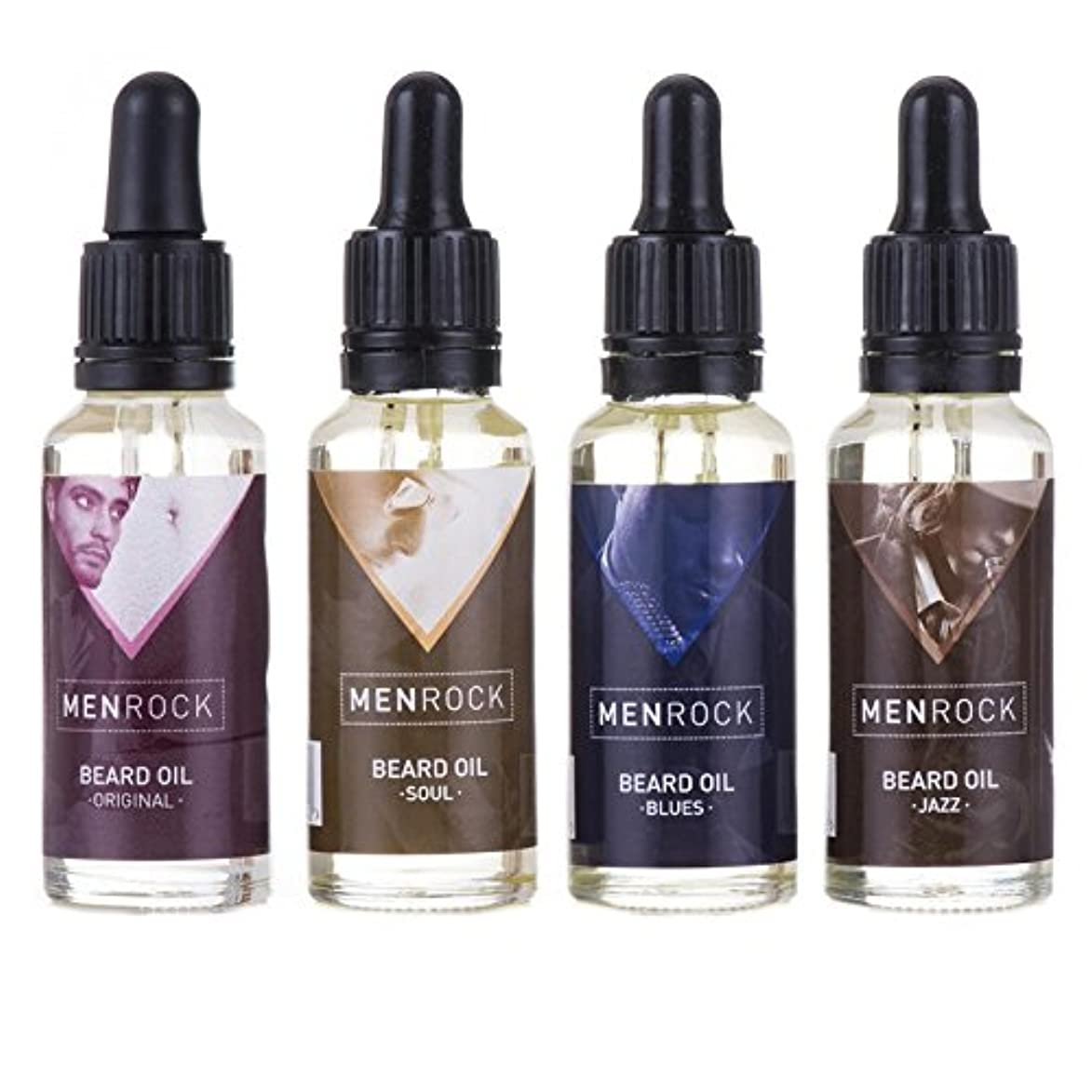 ブロック篭儀式男性岩ひげ油回収 x4 - Men Rock Beard Oil Collection (Pack of 4) [並行輸入品]