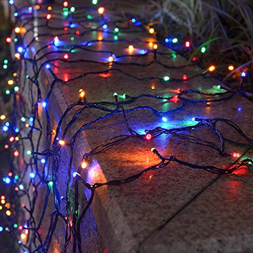 Outdoor Solar String Lights, 500 LED Fairy Lights Waterproof, 165ft Silvery Copper Wire String Lights, 24V DC, Christmas Decoration for Home Garden Lawn Wedding Holiday Indoor Party