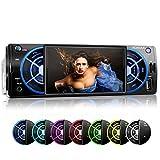 XOMAX XM-VRSU412BT Autoradio / Moniceiver mit Bluetooth Freisprecheinrichtung & Musikwiedergabe + 7 Farben einstellbar (blau, türkis, weiß, grün, gelb, lila, rot) + 10cm / 4' Zoll...
