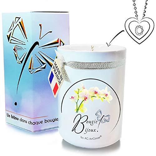 profesional ranking AG ArtGosse – Vela pequeña de 170 ml con cristales Swarovski, orquídea blanca.  perfume … elección
