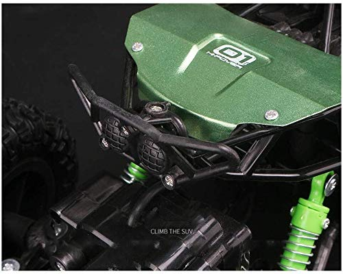 ADLIN Terrain Rc Cars, 2,4 GHz Super-kollisionssicherere Fernbedienung Auto-Akku, High-Speed-Buggy Monster Truck Crawler, Einzelradaufhängung, Geschenk for Kinder EIN (Color : Green)