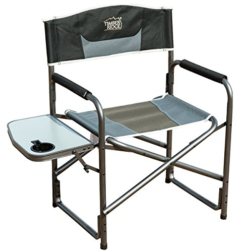 Timber Ridge Directors Chair with Side Table Aluminum Frame Portable Lightweight Folding Camp Chair...