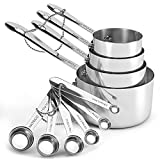 Stainless steel measuring cups and spoons