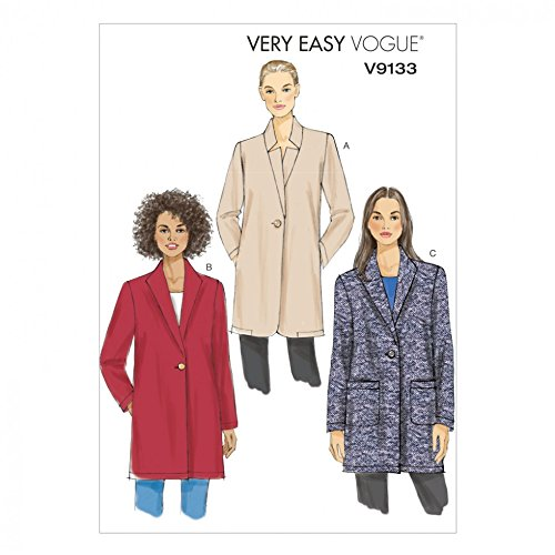 Vogue Patterns Mesdames Patron de Couture Facile 9133Courroie de fixation sans doublure vestes + sans Minerva Crafts Craft Guide