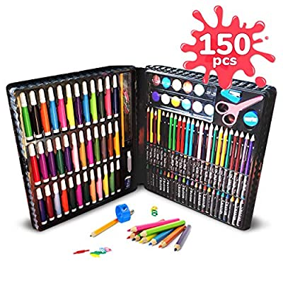 Art Case for Kids 150 PC Art Set Complete Creative Drawing Art Box and Coloring Kit