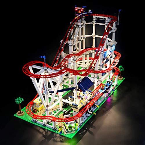 ADMLZQQ Kit luci a LED per Lego 10261, Non Include Il Modello Lego, Il Kit luci a LED Compatibile con Montagne Russe,Standard