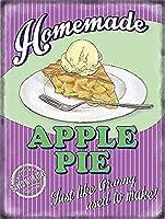 アップルパイとアイスクリーム食品古いレストランブリキ看板壁の装飾金属ポスターレトロプラーク警告サインオフィスカフェクラブバーの工芸品