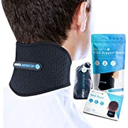 Sports Laboratory Neck Support Brace for Neck Pain, Self Heating Magnets & Tourmaline Adjustable Cervical Collar, Free Bag & Guide