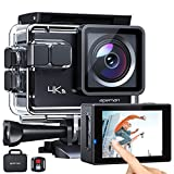 APEMAN Action Cam A87, Touch Screen 4K/60FPS 20MP WiFi Telecomando Impermeabile...