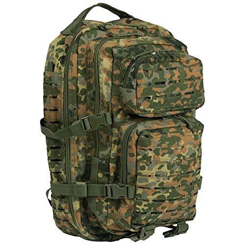 Mil-Tec US Assault Rucksack 20l Laser Cut Camouflage Flecktarn