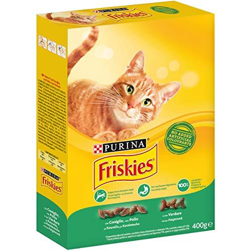 Friskies Adult pienso para el Gato, con Conejo, Pollo y Verduras aggiunte, 400g–Paquete de 20Unidades