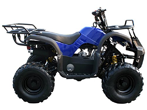 Motor HQ 125cc ATV Fully Automatic Four Wheelers 4 Stroke Engine 7' Tires Quads for Kids Blue