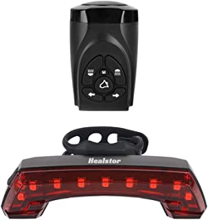 Healstor Bike Horn taillight, Wireless Rechargeable Bicycle Horn Remote Control Rear Light Left & Right Turn for Cycling