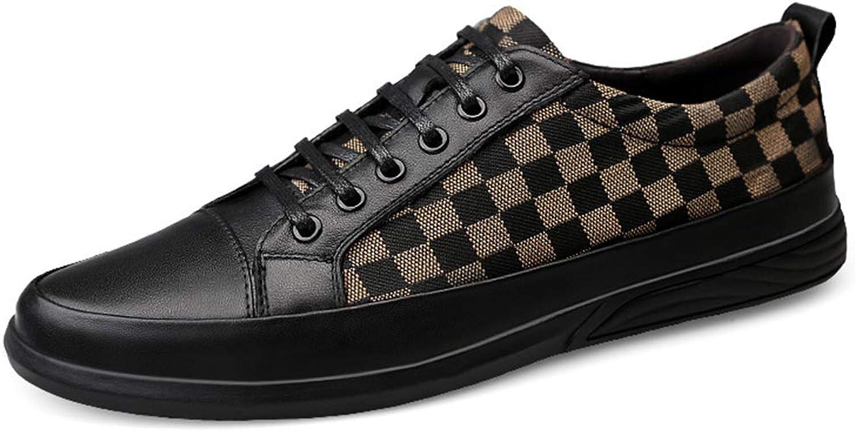 MYXUA Herren Leder weichen Boden Business casual atmungsaktiv British Trend Schuhe Stiefelschuhe