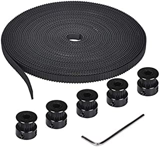 Lei Zhang 3D Printer Parts GT2 Belt 20 Teeth GT2 Timing Pulley And 5M GT2-6mm GT2 Timing Belt Kit for 3D Printer (Color : ...