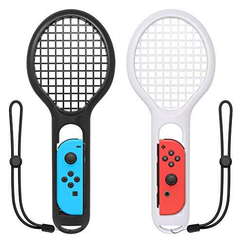 ZYBC Raqueta De Tenis para Nintendo Switch Joy-con Controller Mario Tennis Aces Accesorios para Juegos Paquete De 2 (03)