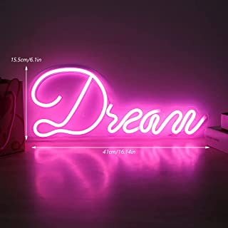 """Neon Sign """"Dream"""" Led Neon Light USB or Battery Operated Acrylic Neon Sign Illuminated Letter Night Lights Led Wall Lamp A..."""