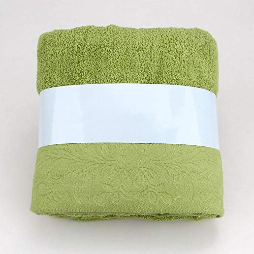 xin24 Badhanddoeken saunahanddoek fitness handdoek douchehanddoek badhanddoek gekamd katoen jacquard satijn zacht absorberend groen cadeau 140 * 70 cm mosgroen