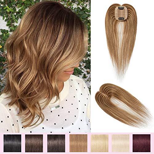 Volumateur Femme Complément Capillaire Topper Extension a Clip Cheveux Humain Naturel Postiche Perruque (12\
