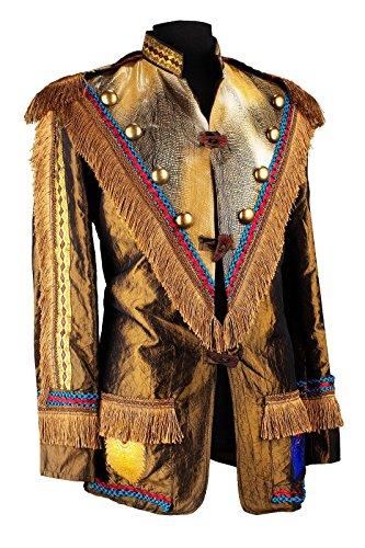M&G Atelier Herren Indianer Jacke Hochwertige Kostüm Karneval Fasching Kurz 46-66 (54)