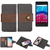 K-S-Trade® Handy-Hülle Schutz-Hülle Bookstyle Wallet-Case Für -Archos Core 50- Bumper R&umschutz Schwarz-braun 1x