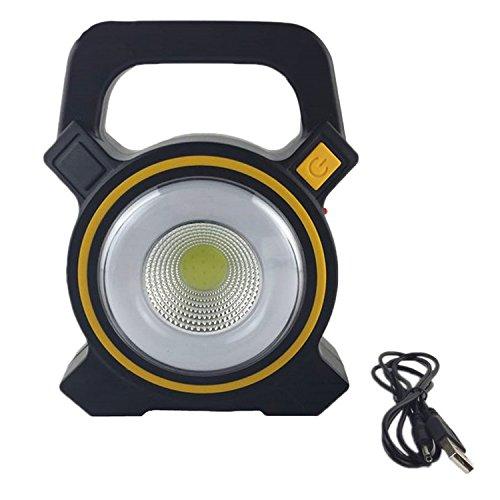 Gosear Portable USB Solaire Rechargeables Torche lumière Lampe de Jardin de Travail de Secours Spot Lampe