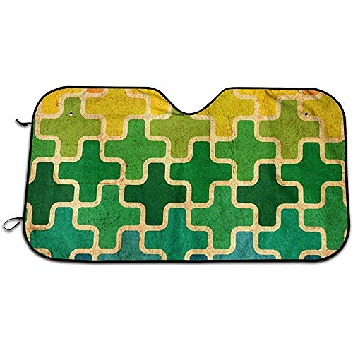 Beth-D Cross puzzel auto voorruit vizier, zon schaduw gordijnenUV bescherming voorruit zon vizier zonnebrandcrème isolatie zon Shield 147X118CM