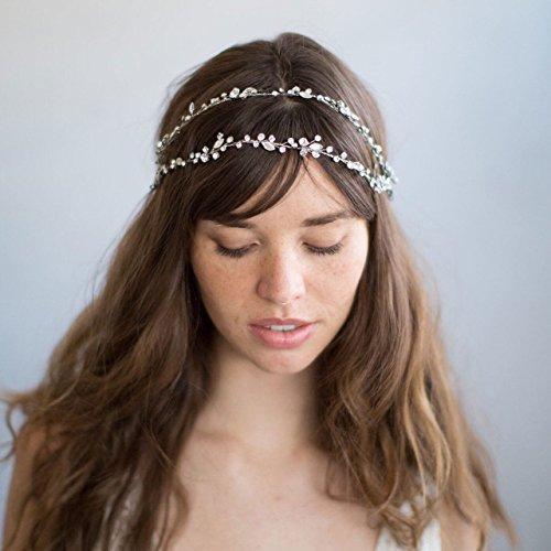 Handgefertigt Braut-Accessoire Haar Stück Blume 3D Kristall Haarband dhe03