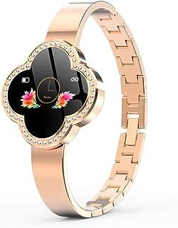 CZX S6 Reloj inteligente para mujer, pulsera de seguimiento de la actividad física, reloj inteligente de presión arterial, monitor de ritmo cardíaco, deportivo y señoras