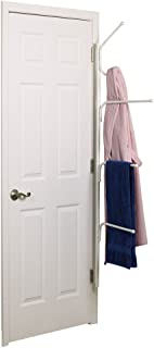 Household Essentials H12101 Hinge It Clutterbuster Towel Bars and Hook Valet | 3 Towel Bars and Hook ALL-IN-ONE | White