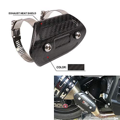 AnXin Protector de tubo de escape de fibra de carbono para motocicleta, protector universal para Yamaha Harley Suzuki Honda Kawasaki Street Bike (tamaño: 110 x 60 mm)