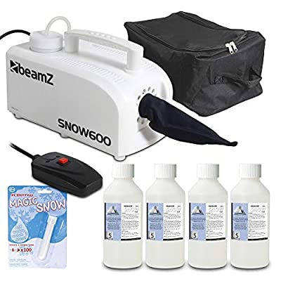 beamz 600w Snow Maker Blower Machine Fake Snowflake Effect with *20L Fluid + Powder