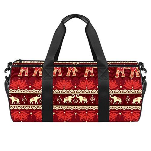 45,7 cm Sport-Turnbeutel, Reisetasche mit Nassfach für Männer und Frauen, leicht, nahtlos, Elefanten-Religion Belief