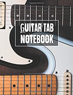 Guitar Tab Notebook: 5 Blank Chord Diagrams Seven 6-line Staves per page with 110 pages printed on both sides in an 8.5x11 size.