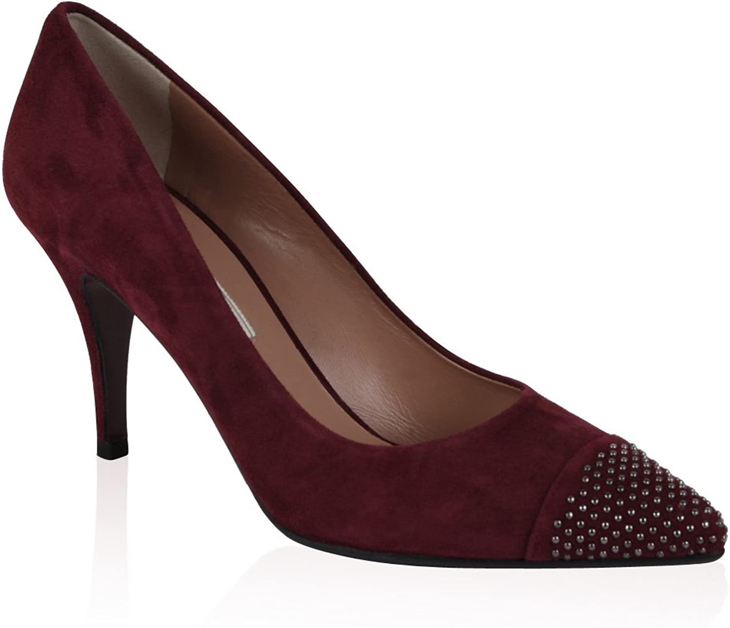 Pied a Terre quot;Alford (lila Wine Wildleder Point Fu Nieten Detail Pumps