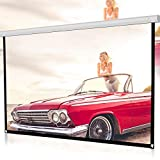 Movie Projection Screen, Lkaine 72 in Projector Screen 16:9 HD Foldable Video Projection Screen Anti-Crease Indoor Outdoor Projection Screen for Home, Party, Office, Classroom (72 inch, White)