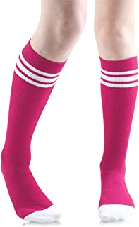 Baby, Toddler and Kids Knee High Tube Socks for Boys and Girls with Grips (1 Pair)