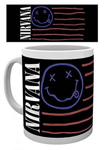 1art1 Nirvana - Flag Foto-Tasse Kaffeetasse 9 x 8 cm