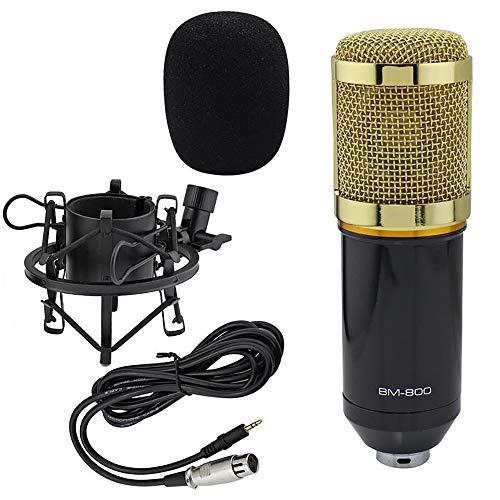 Set de micrófono condensador, micrófono profesional BM-800, micrófono de mesa de estudio, grabación de micrófono, sonido Podcast Studio para grabación de podcasts, PC Gaming