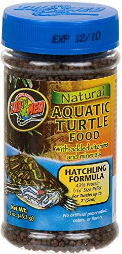 Zoo Med Natural Aquatic Turtle Food - Hatchling Formula (Pellets) 1.9 oz - Pack of 2